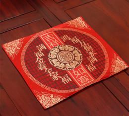 Tappeti etnici online-Ethnic Large Rectangle Chinese Silk Tovaglietta vintage Decorazione tavolo Piatto Bowl Pad Natale Tavolo da pranzo Mat Pallet 40x32cm