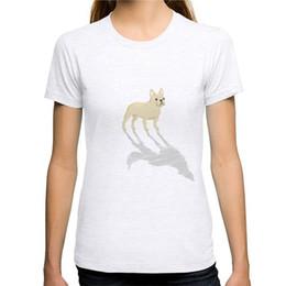Nueva camiseta de algodón del verano que imprime la camiseta de manga corta del o-cuello del dogo francés de la crema de las mujeres desde fabricantes