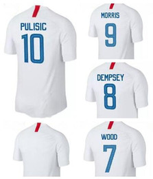 Wholesale cup teams - 18-19 Pulisic #10 National Team Red Soccer Jersey,2018 World Cup Jersey,Customized Soccer Top Thai Quality,Cheap Soccer Jerseys Discount