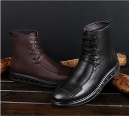 la saison des bottes les plus chaudes Promotion Hot nouvelles motos de course bottes hommes bottes en cuir véritable imperméable grande taille quatre saisons moto chaussures de haute qualité