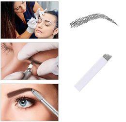 Canetas de bordar de sobrancelhas on-line-150 Pcs Agulhas Microblading 12 pinos Flex para Microblading Caneta Bordada Pernement Maquiagem Sobrancelha Tatuagem Suprimentos 0.25mm naald