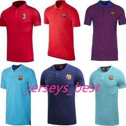Wholesale Football Polo Shirts - Top Thai quality 2017 2018 Spain HAZARD MORATA Football jersey KANTE DE BRUYNE G.JESUS KANE SON 17 18 polo rugby Shirts