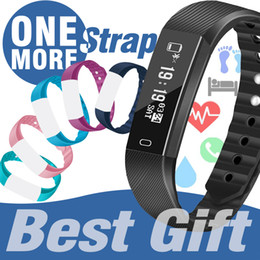 step monitors Promo Codes - 1pcs ID115 F0 Smart bracelet Fitness Tracker with Heart Rate Monitor Watch Activity Step Pedometer Bracelet Sport running watch PK FITBIT