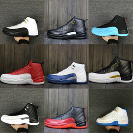 huge selection of 01626 a448b 2018 klassische 12s Grippe-Spiel-Schwarz-rote hohe Basketball-Schuhe 12.0  Taxi XII Mens-hohe Trainings-Turnschuhe 130690-002 Größe 7-13