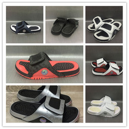 Wholesale Polka Dot Shower - Wholesale 2018 New Hydro slippers massage Black white sports men basketball shoes out casual sneakers high quality shoes size US 7-12 40-47
