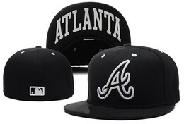 Wholesale Popular Football - Hot popular Atlanta Braves Fitted Hats snapback custom all teams football baseball basketball America Sports Snapback hats caps fitted hats