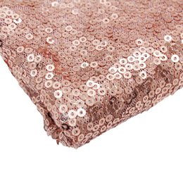 """Wholesale rose table runners - 1pcs 12 """"X108 """"Rose Gold  Champagne Sequin Table Runner 30x275cm Sparkly Wedding Party Decor Party Event Bling Table Decoration"""