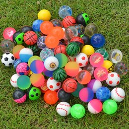 esfrega impressão Desconto Novo 32 MM Bola Elástica Bouncy Bolas de Impressão Matagal Bolas Esferas de Borracha de Descompressão Brinquedo Estilos Aleatórios T2I162