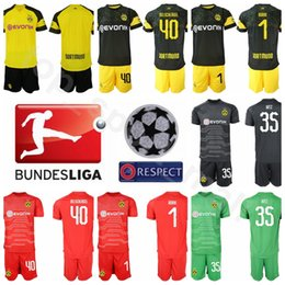 BVB Goalkeeper GK 1 Roman Burki Jersey Set FC Borussia Dortmund Soccer 1  Roman Weidenfeller Custom Name Football Shirt Kits Uniform 3392928dd