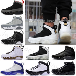 Wholesale White Thread China - 2018 Cheap NEW 9 Basketball Shoes Men White space Jam Anthracite Copper Statue Barons Suede Fabric 9s IX China Sports Tennis Mens Sneakers