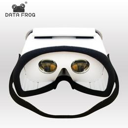 Iphone de los vidrios 3d de la cartulina online-Rana de datos DIY Gafas de realidad virtual portátiles Cartón de Google Gafas 3D Caja VR para teléfonos inteligentes para Iphone X 7 8 VR