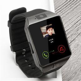 Умная женщина онлайн-smart watch Intelligent Wristwatch Support Phone Camera SIM TF GSM for Android iOS Phone dz09 pk gt08 a1 men and women