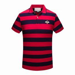 Wholesale Men High Collar T Shirt - New High Quality Men Fashion Brand Turn-Down Collar Summer Casual Men's T Shirt Short Sleeve Cotton Polos