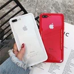 Simples ins acrílico imitação moldura de vidro iphoneX / XR / XS Max alfabeto telefone móvel casal capa de proteção