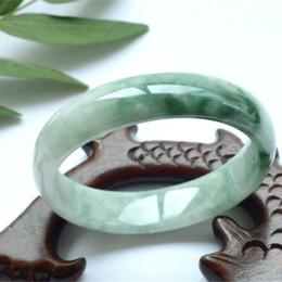 Argentina Brazalete de concubina imperial auténtico femenino de Myanmar natural flores flotantes llenas de pulsera de jade cerosa verde supplier natural jade bracelet myanmar Suministro