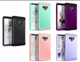 robuste notiztelefonkoffer Rabatt Hybrid-Abdeckung für Iphone XS MAX XR Galaxy Hinweis 9 Note9 S9 Fall Hartplastik + Soft TPU robuste Defender Armor Luxus 2 in 1 Dot Phone Gel Fällen