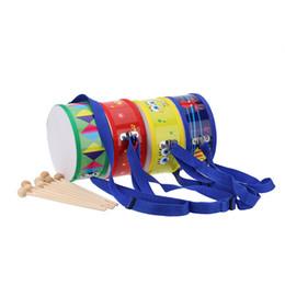 Tambours en bois en Ligne-En bois avec un instrument en plastique de battement de tambour de caisse claire en plastique pour des enfants