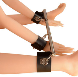 Wholesale Metal Bondage Shackles - Metal Adjustable Spreader Bar Bondage Set Unisex Sex Slave Handcuffs Ankle Cuffs Fetish Restraints Shackles,Sex Toys For Couples