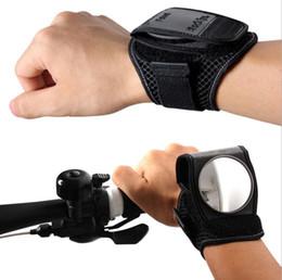 Bicycle reflector online-Gute Hand Fahrrad Handgelenk Rückspiegel Armband Reflektor Handgelenk Guards Zurück Spiegel Motorrad Zubehör OOA5715