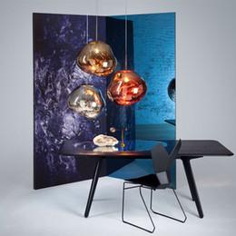 Wholesale copper 14 - Modern Tom DIXON Melt Pendant Lights Lava Irregular Silver Gold Copper Mirror Hang Lamp Chandeliers for Living Room Lighting High Quality