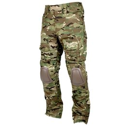 Wholesale army bdu - CQC Tactical Pants Cargo Men Hunting Paintball Camouflage Multicam Army BDU Combat Pants With Knee Pads