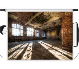 Pared de ladrillo prop online-venta al por mayor Fondo de telones de fondo de vinilo de poliéster para estudio de fotografía telón de fondo apoyos de la foto pared de ladrillo retro interior de la casa abandonada