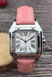 Wholesale Wristwatch Cars - Fashion Top Famous Brand Man watch genuine leather wristwatch Women Dress Watch Quartz Clock Steel lovers' watch free ship hign quality car
