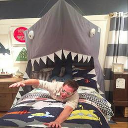 2019 biancheria da letto di tende Princess Canopy Bed Valance Letto Tenda Baby Round Zanzariera Tenda grigia Shark Tende biancheria da letto di tende economici