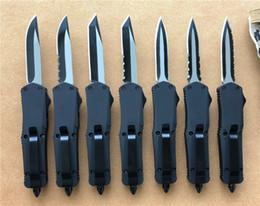 lâminas personalizadas Desconto Preto Pequeno A07 D / A facas auto Custom faca 440C dois tons lâmina mini Tactical ferramenta sobrevivência engrenagem Cypher 7 estilos lâmina