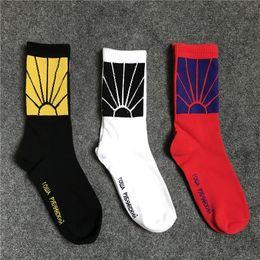 Wholesale Flag Stockings - Gosha Rubchinskiy Stocks High Quality Jacquard Flag Sporty Stockings New Fashion Unisex Paccbet Socks Black White Red OXH0106