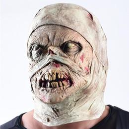 Cosplay múmia on-line-Múmia de Halloween Máscara de Látex Horrível Acessórios Traje Cosplay Engraçado Máscaras Partido Pranks Máscara Unisex Frete Grátis