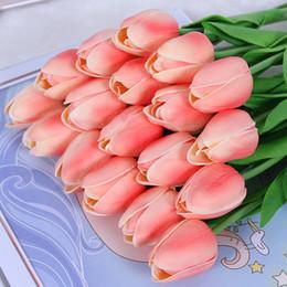 Romantico mini tulipano fiore reale tocco matrimonio inferiore bouquet di fiori di seta artificiale per la decorazione del partito a casa da