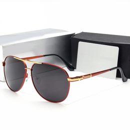 Wholesale Car Sunglasses Case - Car Brand Sunglasses Designer Luxury Mens Driver Sunglasses Polarized Glasses Anti-glare Anti-UV Fashion Sunglass with Original Case Eyewear