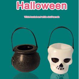 2019 vestir-se américa Halloween Bucket Taro Bruxa Appliances De Doces Europa e América do bebê caçoa o presente das Crianças Handmade Dress Up Adereços vestir-se américa barato