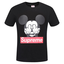 Wholesale Funny Animal Shirts - 2018 New Arrivals Fashion print animals pattern casual t-shirt white black young fashion funny t shirts cotton men clothing