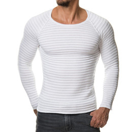 Wholesale plain pullover sweater - 6 Colors Men's Casual Slim Fit Round Neck Plain Knitwear Jumper Pullover Basic Sweater