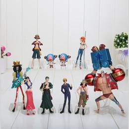 10pcs / set 4-18cm Anime One Piece Chiffres Poupées Jouets 2 Ans Plus Tard Luffy Sanji Zoro Brook Chopper Nami Franky modèle jouets ? partir de fabricateur