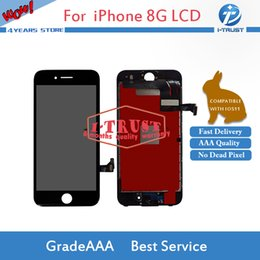 Wholesale Iphone Display Black - Wholesales LCD or Display for iPhone 8 LCD and Touch Screen Digitzer Black White Color Good Repair Replacement Part+ Free DHL Shipping