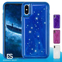 VAKA MATE Iphone x Case Için Hybird bling kristal Jöle Telefon Tpu Pc Basınç Azaltma Arka Kapak Kılıfları iPhone 6 7 8 Artı vaka nereden