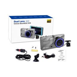 Argentina Hot A10 Full HD 1080P Dual Lens Vehicle Black Box Car DVR 4 pulgadas de 170 Grados de visión Gran angular Grabación de bucle de detección de movimiento Suministro