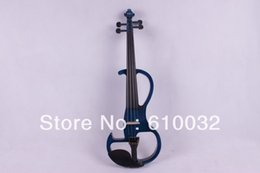 Wholesale Viola Bows - dark blue New 16'' solid wood Electric Viola Silent Body Powerful Sound Case Bow