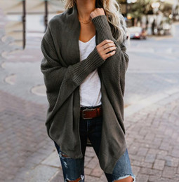 2019 bufandas naturales Nuevo otoño invierno bufanda cuello suéteres de punto moda 2018 mujeres sólido 9 colores manga larga suelta cardigans femeninos FS5844 rebajas bufandas naturales