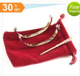 Wholesale 14k Gold Bracelets For Men - Titanium Steel Love Bracelets for women rose gold silver gold Screwdriver Bangles men screw bracelet Couple Jewelry with original bag