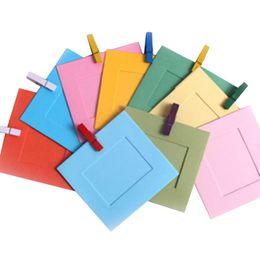 10 unids / lote 3 pulgadas DIY Wall Hanging marco de fotos de papel para fotos álbum tarjeta LOMO decoración del hogar Jute Rope fotos marcos desde fabricantes