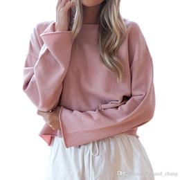 Wholesale Women Loose Grey Sweatshirts - 2018 Autumn Women Hoodies Sweatshirts Pink Long Sleeve Pullovers Grey Basic Sweatshirt Women Loose hoodie Casual Top