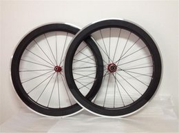 Wholesale 26 Bicycle Wheel Front - LURHACHI 60mm Carbon Fiber+Alloy Wheels 700C 3K UD Matte Glossy Carbon+Alloy Road Bicycle Wheelset Alloy Brake Surface