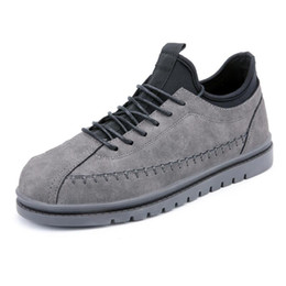 Wholesale Sports Footwear Brands - Brand Sneakers Footwear Zapatos Hombre Casual Leather Men Shoes Lace-Up Chaussure Homme Sport Trainers Driving Shoes Plus Size Shoes 39-47