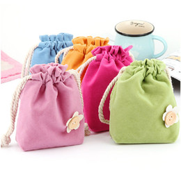 candy bracelet accessories Coupons - candy color flower coin purses wallets holders Jewelry Pouches Rings Necklace Earrings Stud Bracelets Bangle Gift Drawstrings Packaging Bags