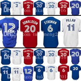 Toronto 6 Marcus Stroman 11 Kevin Pilar 20 2 Blue Jersey 12 Roberto Alomar  29 Joe Carter 19 Jose Bautista Baseball Jerseys dd23bfa7e