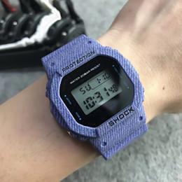 Relojes de alarma analógicos online-Alarma 30M analógico reloj digital Relojes de los hombres deportes de la moda de los hombres ocasionales impermeables militares multifuncionales de pulsera